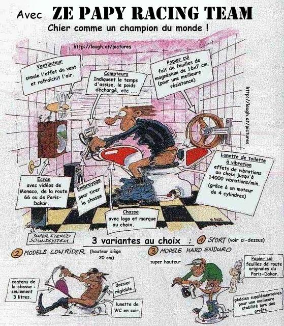 Motard con sot chier comme un champion du monde - Dessin motard humoristique ...